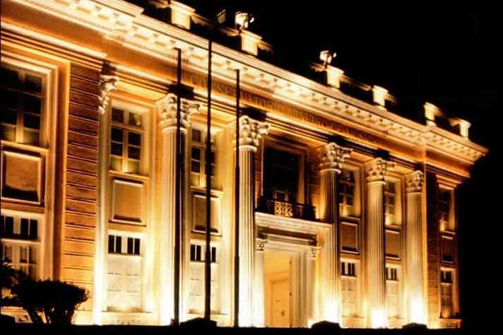 Fachada do Conservatório UFMG, localizado na Avenida Afonso Pena