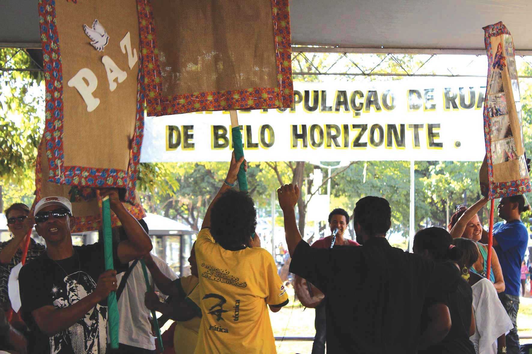 Manifestação apoiada pelo Polos de Cidadania: ações em BH e no interior de Minas Gerais