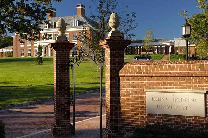 Campus da Johns Hopkins University, nos EUA: parceria formalizada