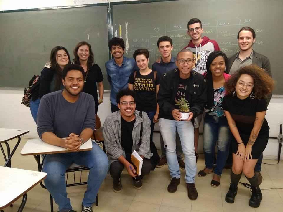 Parte da equipe do Humanizar no 1º semestre de 2018