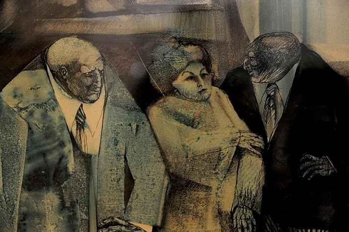 Obra da artista Sangra Bianchi, da coleção da Escola de Belas Artes