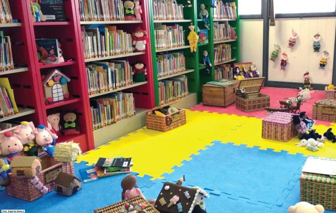 Biblioteca com foco na leitura na primeira infância