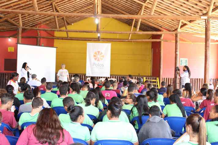 Lançamento do Polos no município de Dom Joaquim, próximo ao de Conceição do Mato Dentro