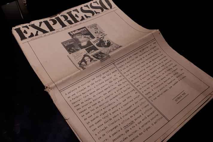 'Expresso', jornal literário idealizado por Maria Esther Maciel em 1984, na Faculdade de Letras