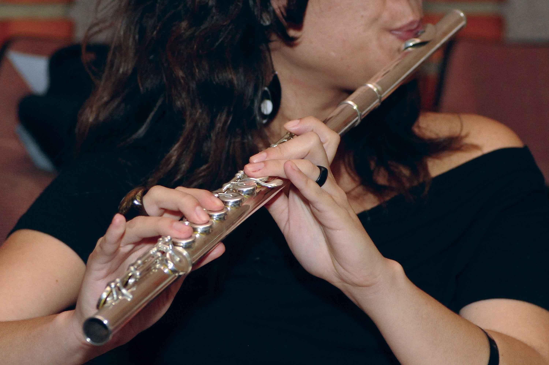 Candidata em performance com flauta  no Vestibular de Habilidades